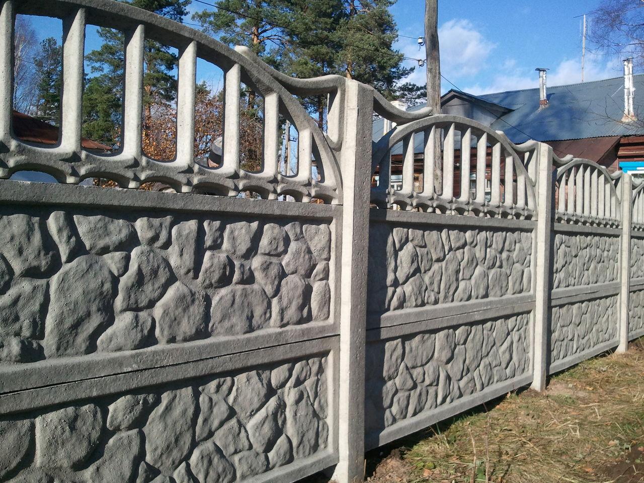 вот забор из плит картинки границей